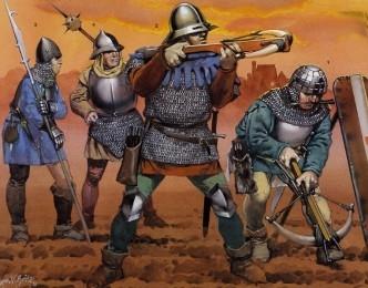 Гуситские войны.  Воины с арбалетами.